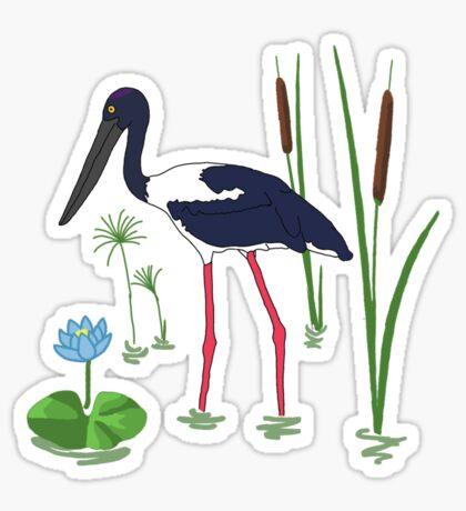 JABIRU - Black-Necked Stork Sticker