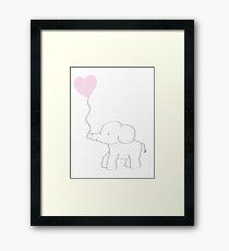 Elephant Love Framed Print