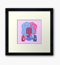 Garnet - Cotton Candy Pastel Framed Print