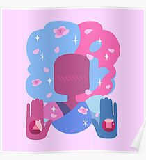 Garnet - Cotton Candy Pastel Poster