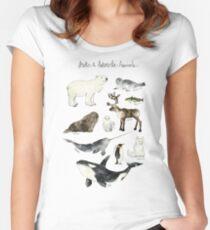 Arctic & Antarctic Animals Women's Fitted Scoop T-Shirt
