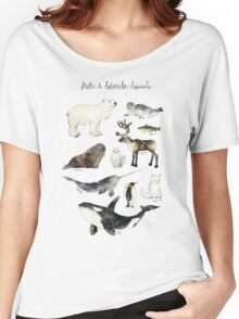 Arctic & Antarctic Animals Women's Relaxed Fit T-Shirt