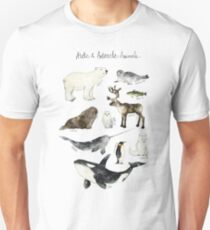 Arctic & Antarctic Animals Unisex T-Shirt