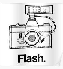 Camera Flash Poster