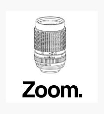 Zoom lens Photographic Print