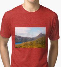 Cradle Mountain Tasmania Australia Tri-blend T-Shirt