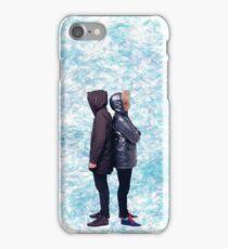 Dan & Phil | Blue petals iPhone Case/Skin