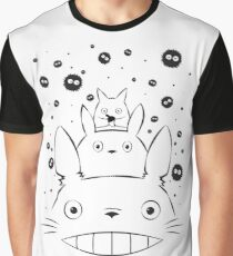 Totoro and Friends Simple Graphic T-Shirt