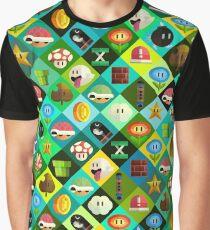 Mario Collage Graphic T-Shirt