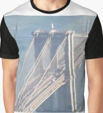 Aerial View, Brooklyn Bridge, One World Observatory, World Trade Center Observation Deck, Lower Manhattan, New York City Graphic T-Shirt