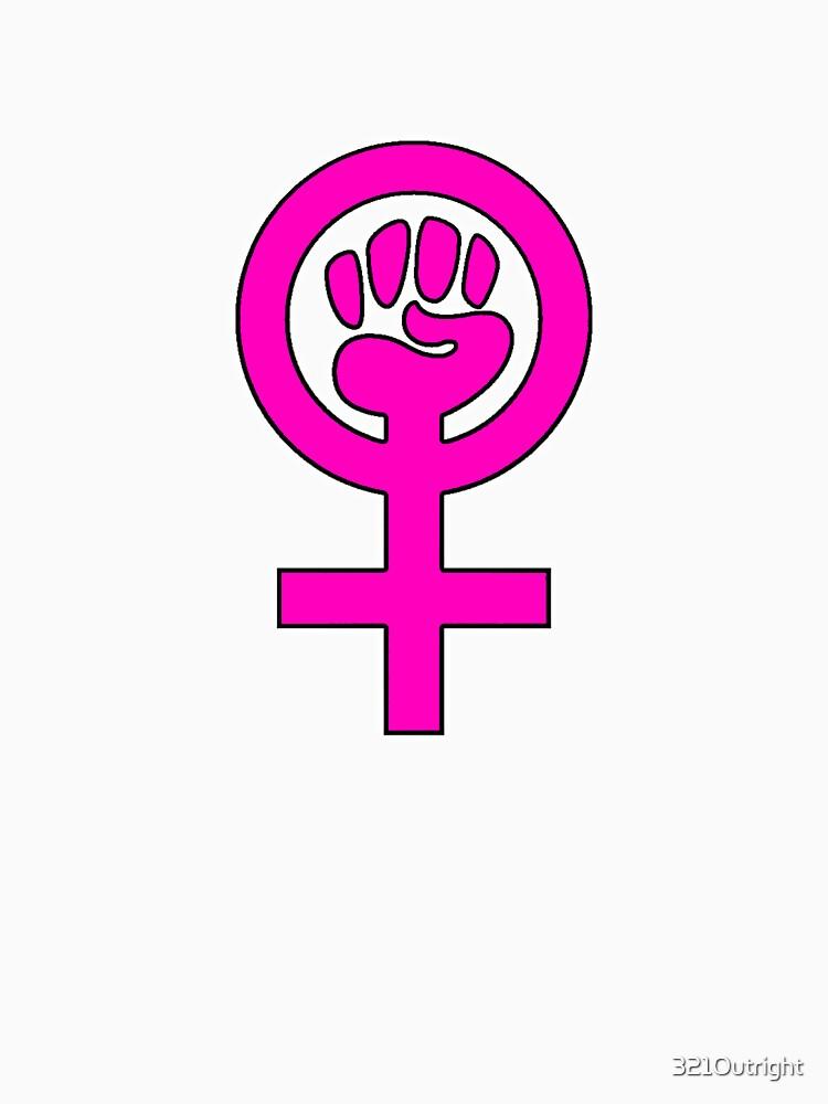 Women S Power Feminist Symbol 2 Unisex T Shirt By 321outright