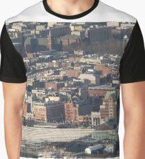 Aerial View, Hoboken, New Jersey, One World Observatory, World Trade Center Observation Deck, Lower Manhattan, New York City Graphic T-Shirt