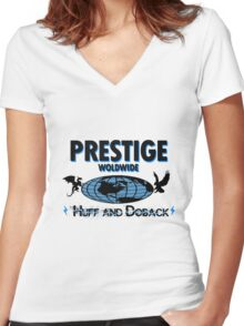 Prestige Worldwide- step brothers Women's Fitted V-Neck T-Shirt
