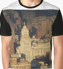 Aerial View, Union Square, Sunset,  One World Observatory, World Trade Center Observation Deck, Lower Manhattan, New York City Graphic T-Shirt