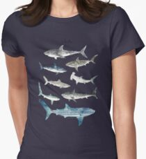 Sharks Womens Fitted T-Shirt
