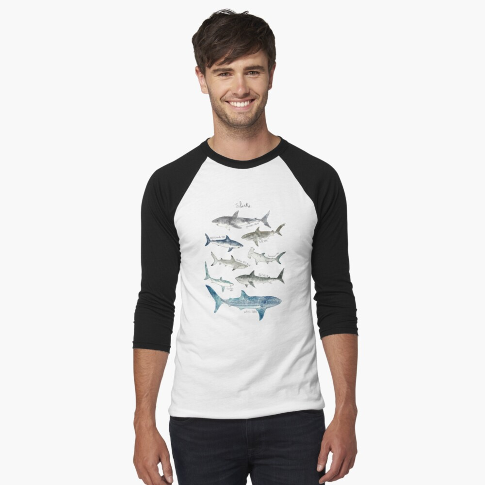 Sharks Baseball ¾ Sleeve T-Shirt