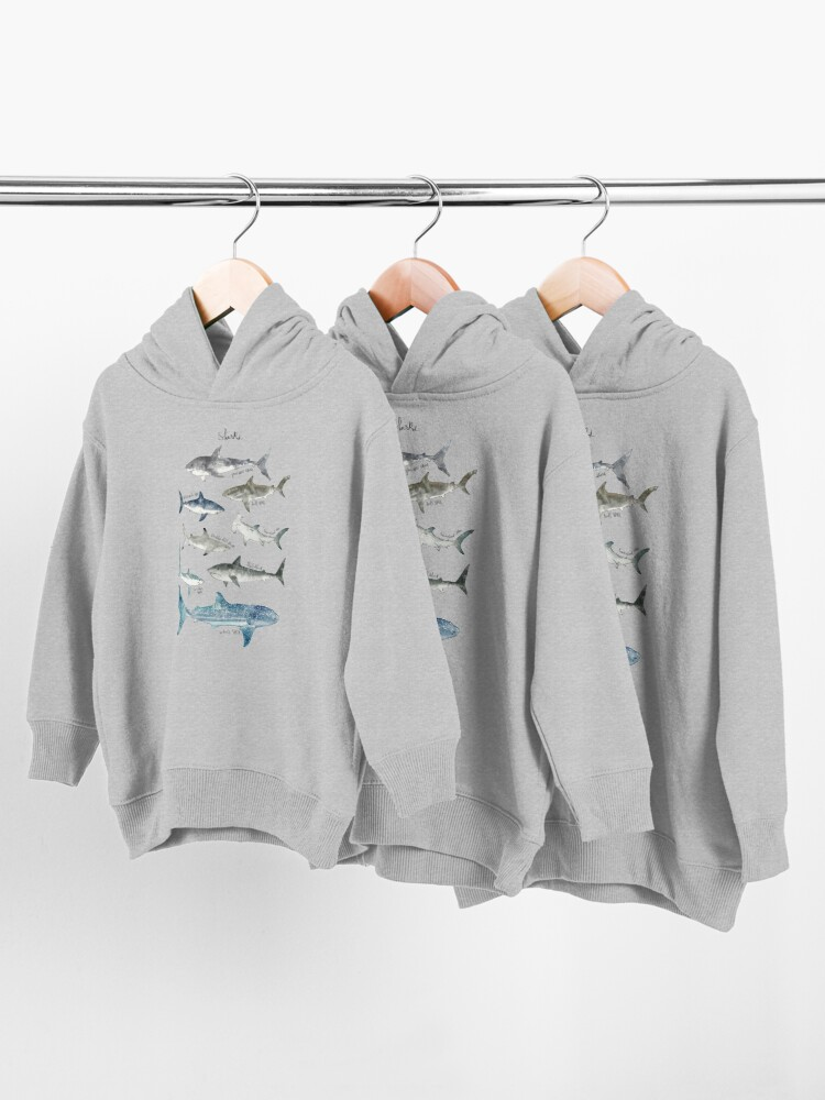 Alternate view of Sharks Toddler Pullover Hoodie