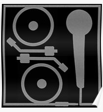 2 turntables and a microphone Poster
