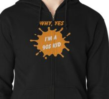Are you a 90's Kid? - Nick Tribute Zipped Hoodie