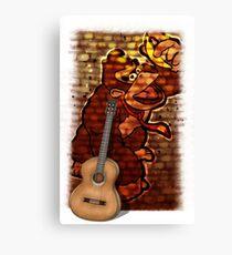 Donkey Kong & Guitar Canvas Print