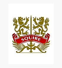 The Squire Coat-of-Arms Photographic Print
