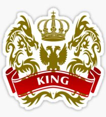 The King Coat-of-Arms Sticker