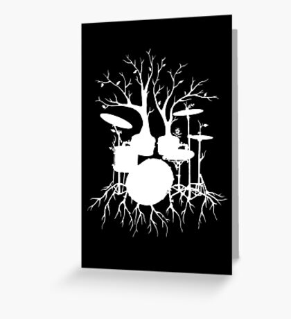 """""""Live the Beat to the Tempo of Creation"""" ~ drum tree art , version1 Greeting Card"""
