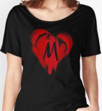 M - GRAFFITI HEART Women's Relaxed Fit T-Shirt