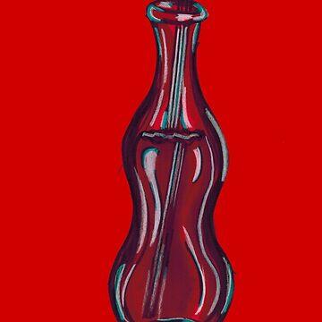 Red Soda Bottle by Gabatron3000