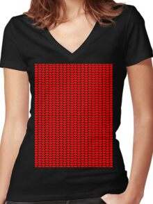 Valentine Hearts Women's Fitted V-Neck T-Shirt