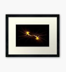 """Twin Flames""  - Fractal Art Framed Print"