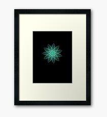 Fractal Flower - Green . Framed Print