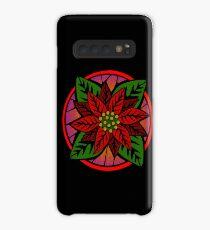 Poinsettia Flower Case/Skin for Samsung Galaxy