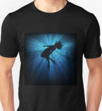 diving girl in flippers  Unisex T-Shirt