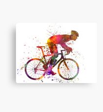 cyclist road bicycle Metal Print