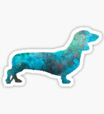 Female Dachsund in watercolor Sticker