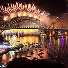 Sydney NYE Fireworks 2015 # 19 by Philip Johnson