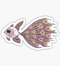 Fish of hearts  (original sold) Sticker
