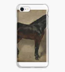 EUGENE DELACROIX, (- ), STUDY OF A BROWN-BLACK HORSE TETHERED TO A WALL. iPhone Case/Skin