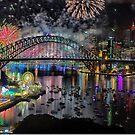 Sydney NYE Fireworks 2015 # 8 by Philip Johnson