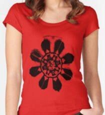 Floral Design Women's Fitted Scoop T-Shirt
