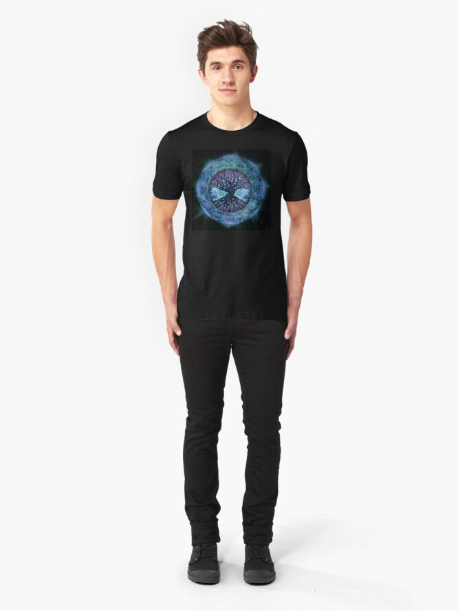 Alternate view of Planet Earth Circle of Life Slim Fit T-Shirt