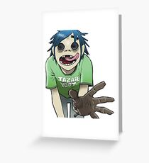 0 gorillaz Greeting Card