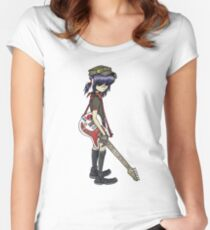 gorillaz noodle Women's Fitted Scoop T-Shirt