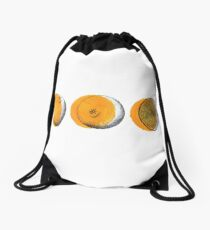 shifty orange  Drawstring Bag