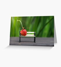 Small world ( strawberry and bug ) Greeting Card