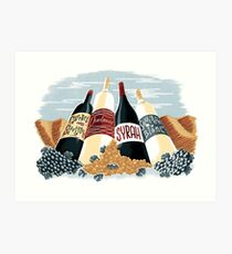 Wine, glorious wine! Art Print