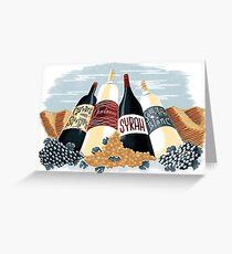 Wine, glorious wine! Greeting Card