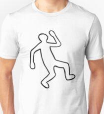 Crime Scene Body Outline Unisex T-Shirt
