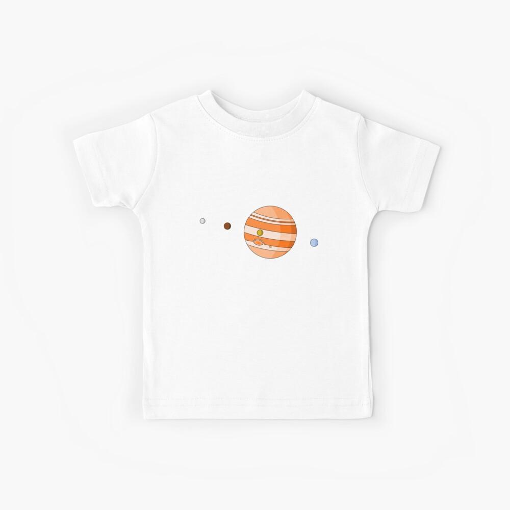 Cartoon Jupiter Planet Camiseta para niños